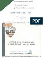 Inventario de La Infraestructura de Riego, Drenaje y Vias de Acceso .Cajamarca..