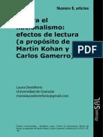Contra El Nacionalismo.. Kohan-Gamerro