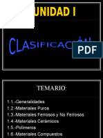 Clasificacion General de Materiales