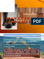 Procesamiento de Materiales Cerámicos Tradicionales
