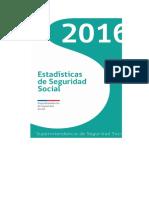 Estadisticas de Seguridad Social Chile 2016