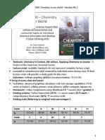 CHEM 10030 H01 Student