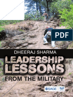 Leadership Lessons From the Military by Dheeraj Sharma