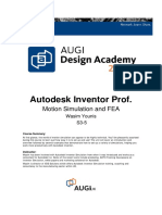 Motion Simulation and FEA Inventor