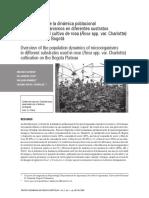 Aproximación de La Dinámica Poblacional de Microorganismos en Diferentes Sustratos