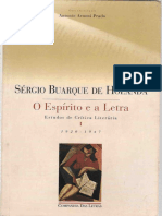 HOLANDA, Sérgio Buarque de. Espirito e a Letra