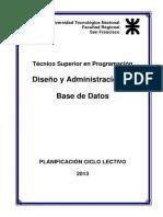Diseno y Administracion Base de Datos