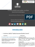 2 - Procesos QAQC en Geominerometalurgia - P. Zuniga - Codelco