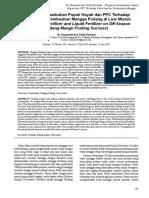 Pengaruh Penambahan Pupuk Hayati dan PPC Terhadap Keberhasilan Pembuahan Mangga Podang di Luar Musim