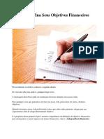 Lição 01 - Defina Seus Objetivos Financeiros