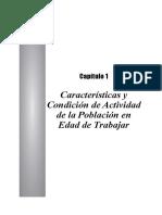 Caracteristicas de Condicion de Actividad de La Poblacion en Edad de Trabajar