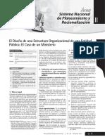 El Diseño de Una Estructura Organizacional CASO MINISTERIO - OCTUBRE 2011