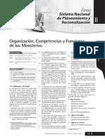 Organización, Competencias y Funciones de Los Ministerios -5 ENERO 2010