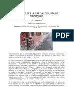 Estelí, ciudad para ciclistas en Nicaragua
