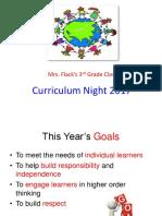 Curriculum Night 2017