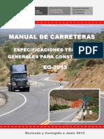Manual de Carreteras - Especificaciones Tecnicas Generales para Construcción - EG-2013 - (Versión Revisada - JULIO 2013).pdf
