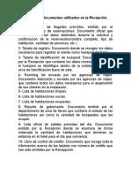 Principales Documentos Utilizados en La Recepción