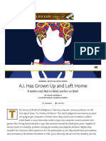 A.I. Has Grown Up and Left Home - Issue 8