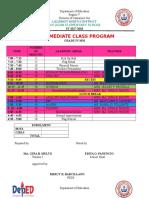 Class Program 2017 2018