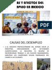 Causas y Efectos Del Desempleo en Mexico.