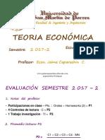 Teoría I - 2017-II