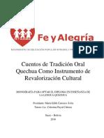 Monografia Quechua