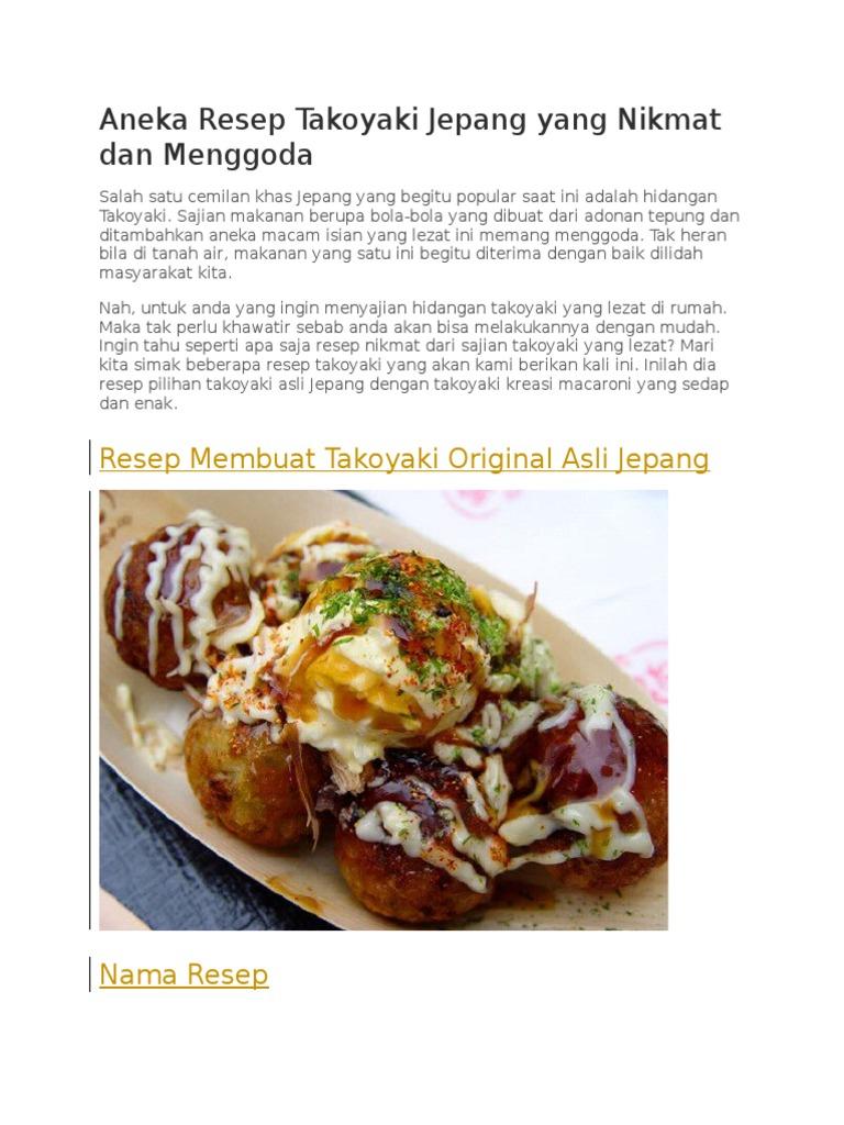 Aneka Resep Takoyaki Jepang Yang Nikmat Dan Menggoda 1437fba3ae