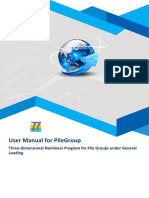 User Manual for PileGroup