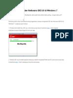 Cara Install JDK Dan Netbeans IDE 8