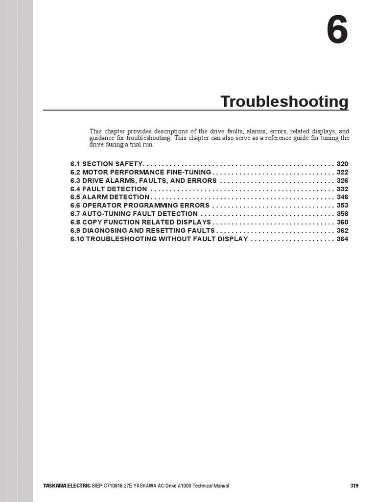 Troubleshooting Inverter A1000 Electrostatic Discharge Feedback Yaskawa Wiring Diagram