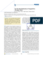 Novel Chemosensor for the Visual Detection of Copper(II) in Aqueous Solution at the ppm Level