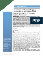 3. Assessment of Normal Doppler
