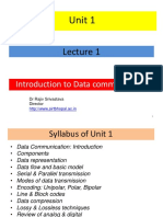 1 Lecture 1 Introduction To Data Communication.ppt