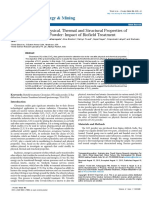 Trivedi Effect - Characterization of Physical, Thermal and Structural Properties of Chromium (VI) Oxide Powder