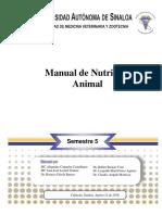 M. de P. de Nutrición Animal Reestructurado y Definitivo 28 de Agosto 2014