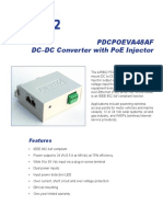 PDCPOEVA48AF , DC - DC Converter + 802.3af PoE Injector 9 - 36 VDC In and 48 VDC PoE Out