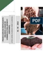Produccion de Abono Organico Abase de Lombricultura (Humus y Lixiviado)