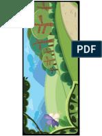 Background Abz Hakim Cartoon Kids Book Illustration Trees Forest Scene Composition Vector Art