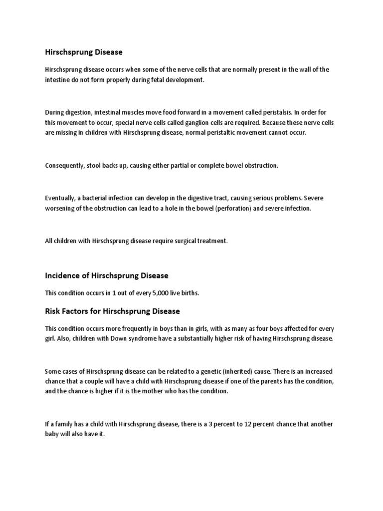 Hirschsprung Disease | Constipation | Human Feces