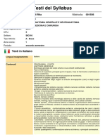 Progr. Anatomia Generale e Neuroanatomia - Prof. Rezzani