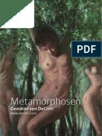 Broschüre Metamorphosen DeCinti 2017