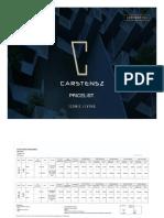 Pricelist Carstensz