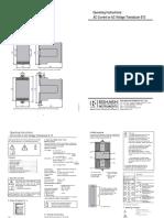 Operating Instructions Transducer
