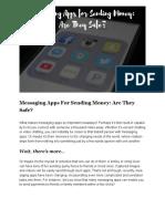 Sending Money Through Messaging Apps