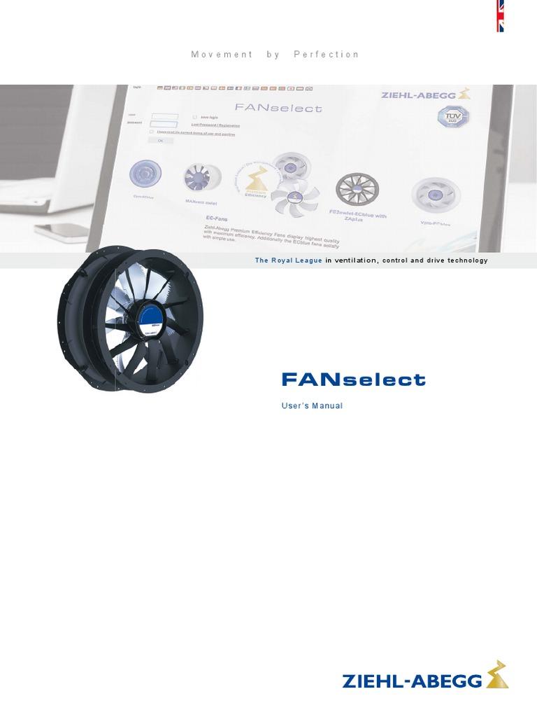 Ziehl Abegg Users Manual FANselect en En | Http Cookie | Portable ...