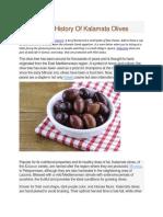 A Brief History of Kalamata Olives