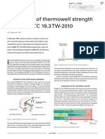 Calculation of Thermowell Strength to ASME PTC 19.3 TW-2010