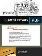Right to Privacy - Mihaela
