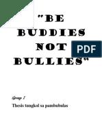 Be Buddies Not Bullies