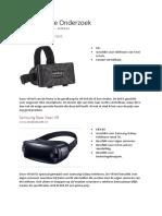 Concurrentie Onderzoek VR-bril